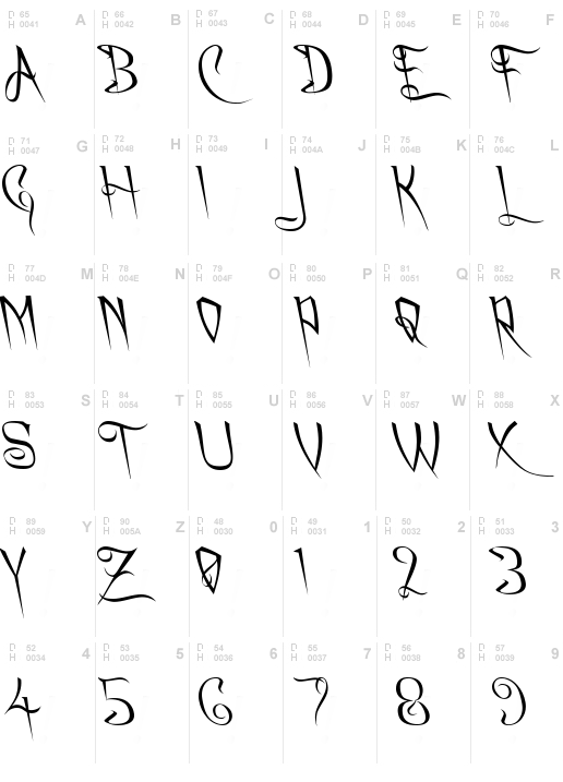 A Charming Font Leftleaning